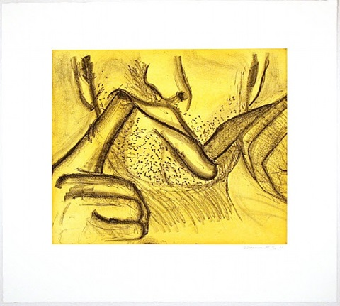 soft ground etching - yellow by bruce nauman