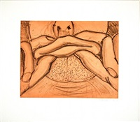 soft ground etching - coral by bruce nauman