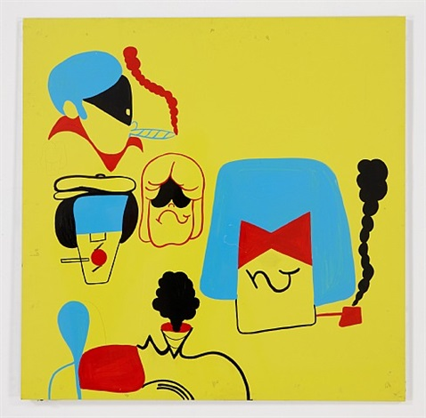 b-boy heads (yellow) by todd james