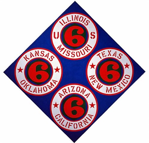 us 66 (states) by robert indiana
