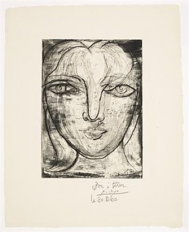 portrait de marie-therese by pablo picasso