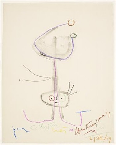 unique pastel drawing by joan miró