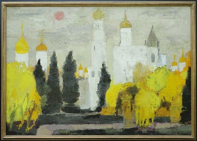 autume dans la jardin du kremlin by bernard cathelin