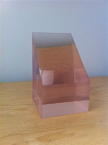 pink cube by peter alexander