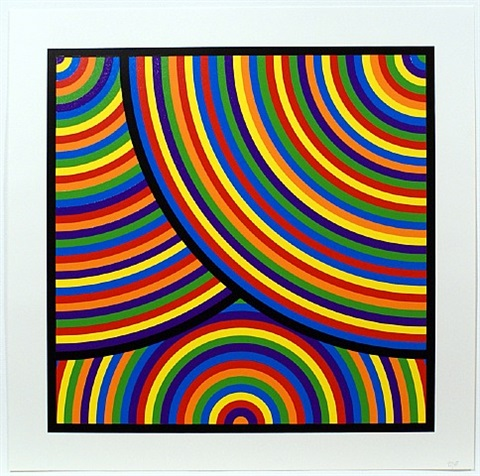 bands of equal width in color by sol lewitt