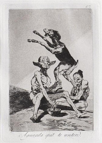 aguarda que te unten (wait till you've been anointed) by francisco de goya
