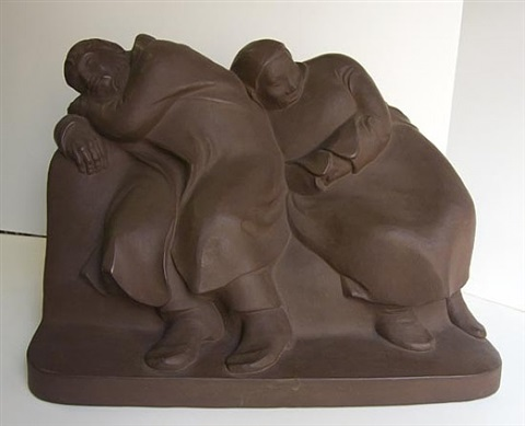 sleeping vagabonds by ernst barlach