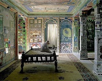 the private audience, aam khas, junha mahal, dungarpur by karen knorr