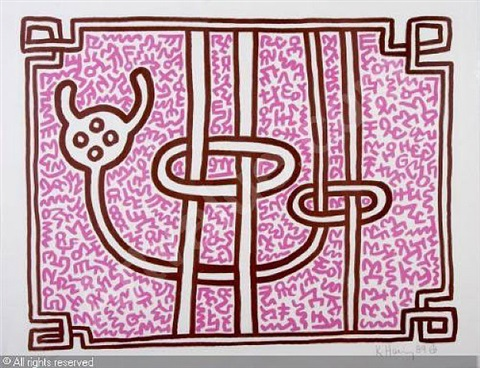 chocolate buddhas- pink by keith haring