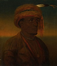 portrait of a native american (portrait of a half breed) by charles wimar
