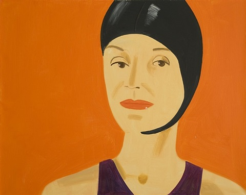 bathing cap (suzette) by alex katz