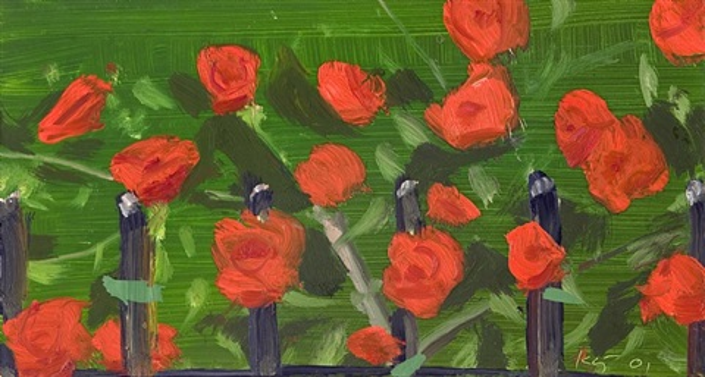 roses by alex katz