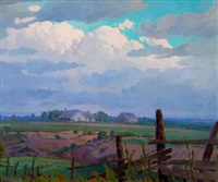 evening clouds by charles taylor bowling