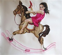 girly horse #2 by claudia alvarez