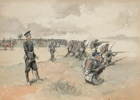 advance of the russian infantry by frederic remington