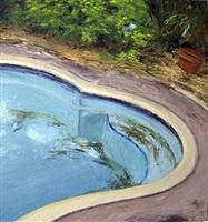 bamboo, pool and garden by juan carballo