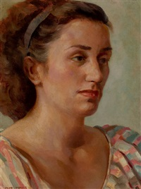 portrait of lota kennedy by olin herman travis