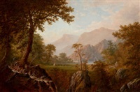 scene in the rockies by alexander françois loemans