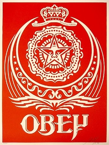 ankara (red) by shepard fairey