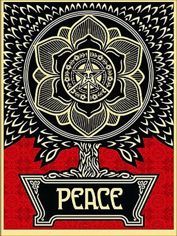 peace tree by shepard fairey