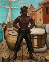 the longshoreman (african-american dock worker) by samuel countee