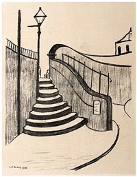 old steps, stockport by laurence stephen lowry