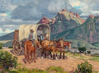 pit stop in the plains by fred darge
