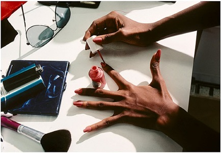 iman's hand, new york by harry benson