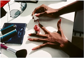 iman's hand, new york by harry benson