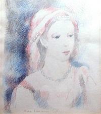 portrait de femme aux perles by marie laurencin