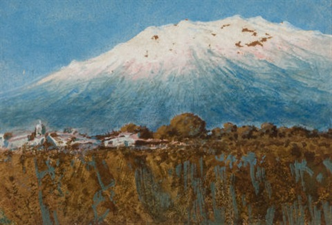 iztaccíhuatl mountain mexico by josé arpa perea