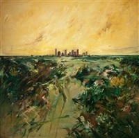 houston cityscape by john alexander