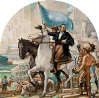 mural study of sam houston by john mcquarrie