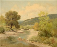 landscape with river by palmer chrisman