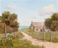 countryside landscape with house by palmer chrisman