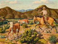 runaway steers by fred darge