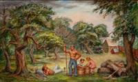 apple harvest by lloyd lozes goff