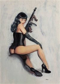 don't tread on me (bettie page) by ron lesser