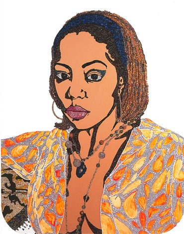 portrait of lovely six foota 1 edition 750 by mickalene thomas