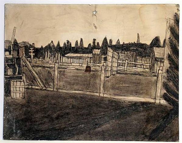 untitled (barnyard scene/garden valley) by james castle