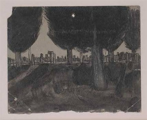untitled (trees and totems), unknown by james castle