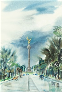 angel of independence, mexico city by lloyd lozes goff