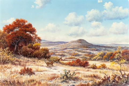 Landscape with Deer by J.W. Thrasher on artnet