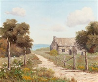 country scene with shed by palmer chrisman