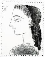 jacqueline au mouchoir noir (bloch 873) by pablo picasso
