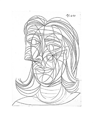 tête de femme by pablo picasso