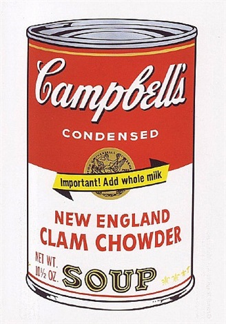 campbell's soup ii, ii.57 new england clam chowder by andy warhol