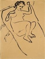liegender weiblicher akt / reclining female nude by ernst ludwig kirchner