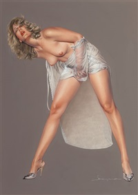 an erotic pose by hajime sorayama