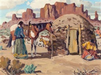 navajo home, northern arizona by fred darge